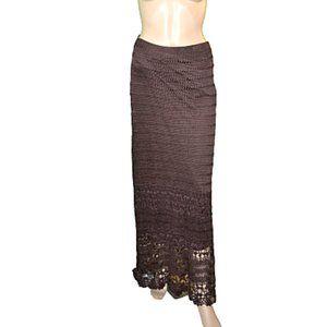 Chicos BOHO Brown Knit Maxi Tube Skirt 16-18 1X XL